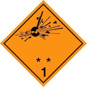 ADR bīstamības zīme Nr. 1.1_1.3