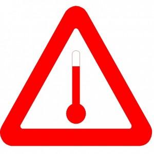 Paaugstinātā temperatūrā pārvadājamu vielu zīme