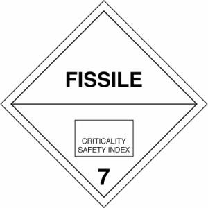 ADR bīstamības zīme Nr.7. klases skaldmateriāls